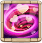 Love Cyclone Removes Silence from nearby allies, restores their Energy by up to 24 over 2s, and increases their CRIT Resist Rate by 5%. (Cooldown: 6s. This Hero is immune to Silence and conditions from Calamity.)
